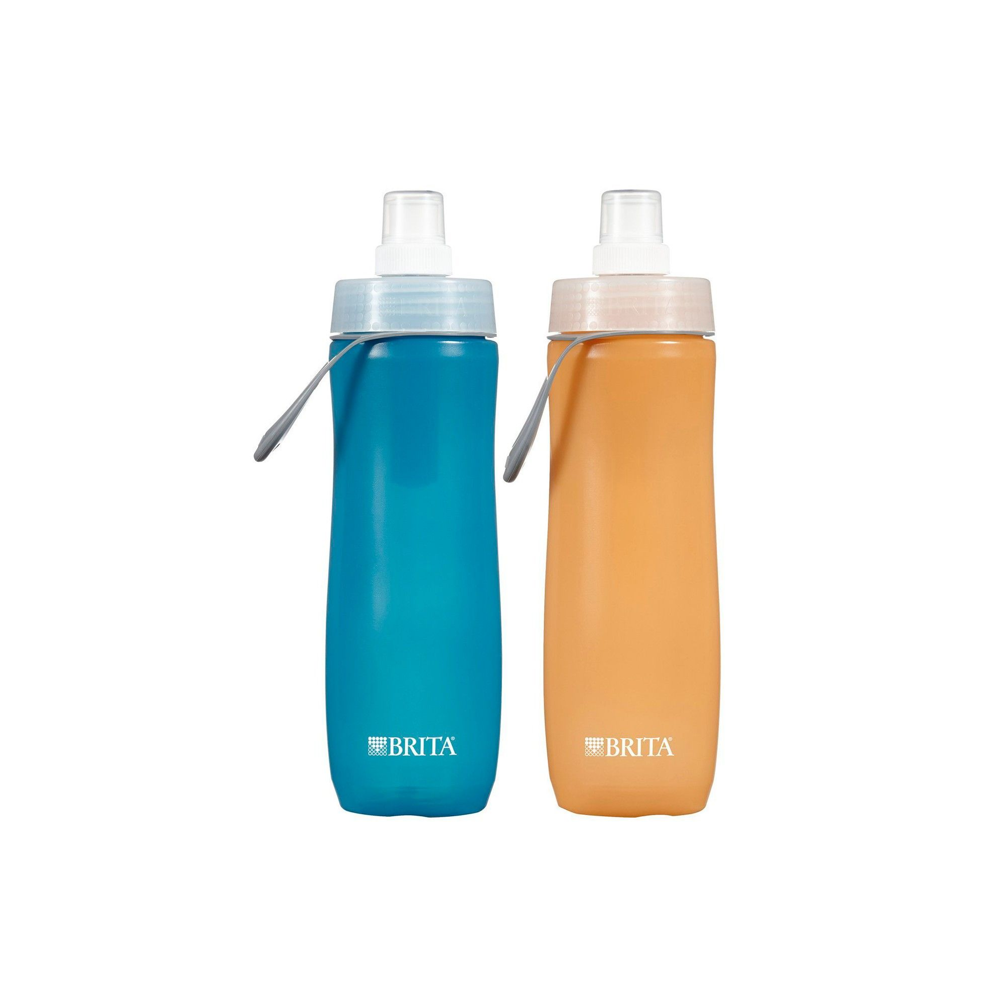 Brita sport 20 oz water bottle twin pack blue and orange