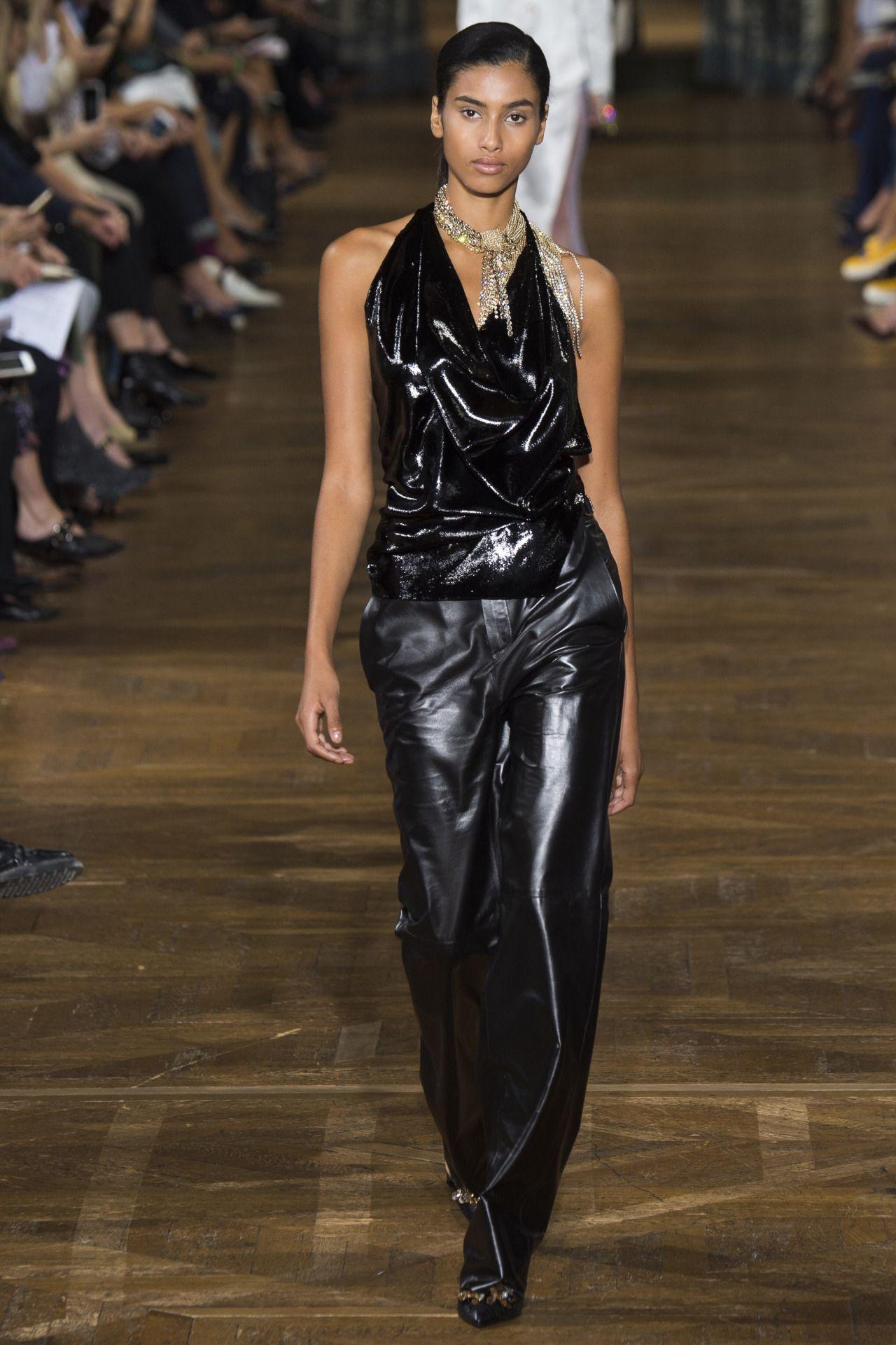 Lanvin   Paris Fashion Week   Spring 2017 Model: Imaan Hammam
