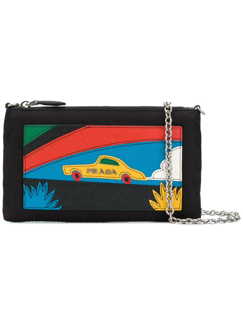 ae59e76ce08997 Prada Car patch clutch   slg   Leather purses, Prada, Best designer bags