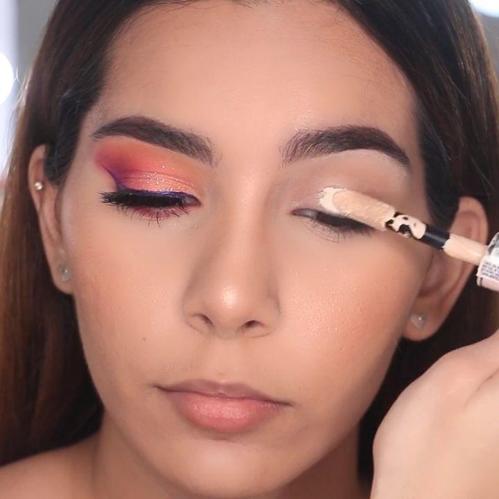 Maquillaje en tonos naranja