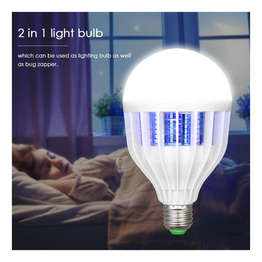 Lampe Anti Moustique Pour Eclairage A Led Culot De Lampe E27 2 En 1 Asupermall Light Bulb