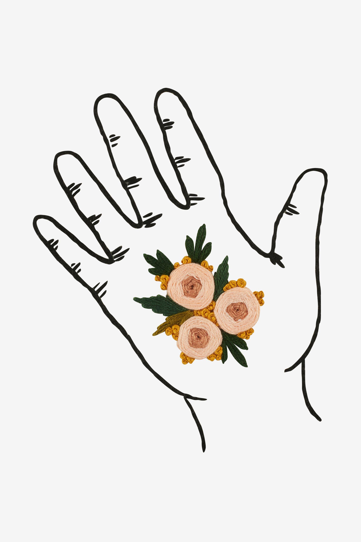 Flowers In My Hand Pattern Motifs De Broderie Motifs