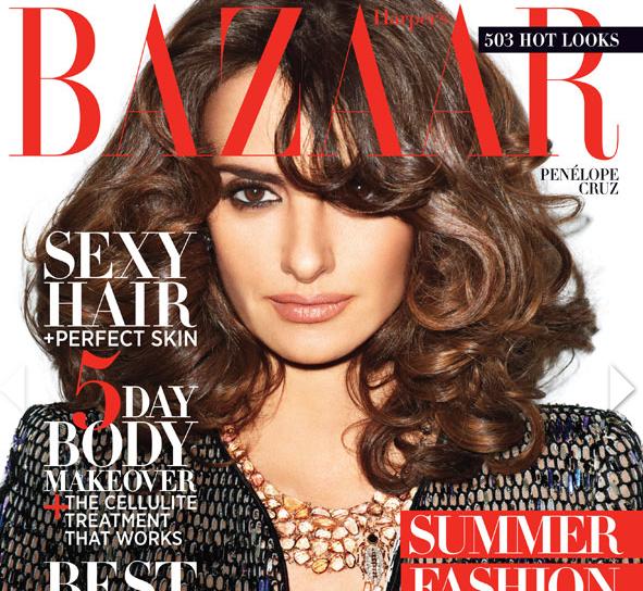 Penelope Cruz looks more beautiful than ever on this cover of Harper's Bazaar.