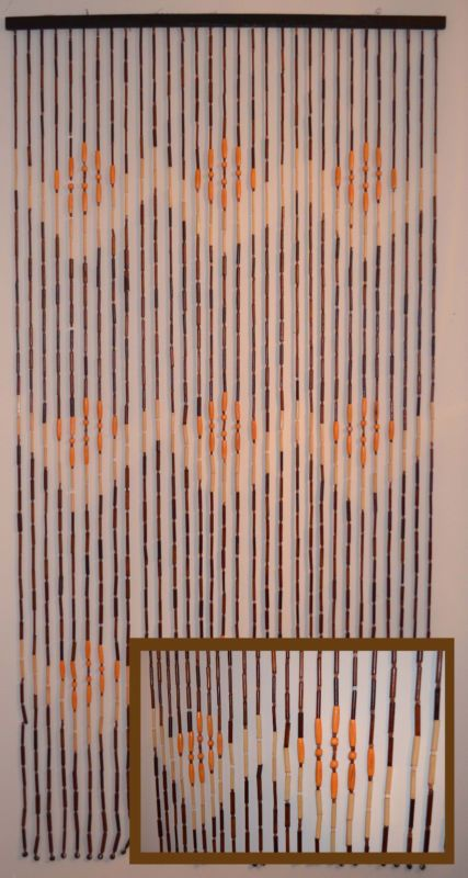 New Wooden Beaded Door Curtain Handmade By Artgateshop On Etsy
