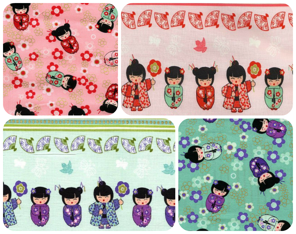 Cherry Blossom Festival Kokeshi Dolls fabric   http://www.theozmaterialgirls.com/benartex-fabric-cherry-blossom-festival-c-119_376_571.html