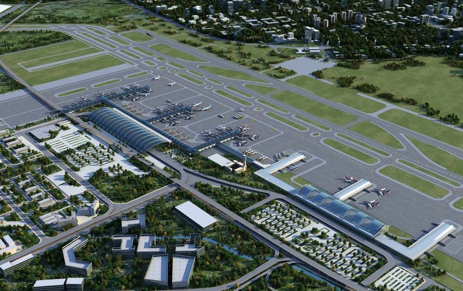 Airport Animated 01 by leenewman. Ready to render as