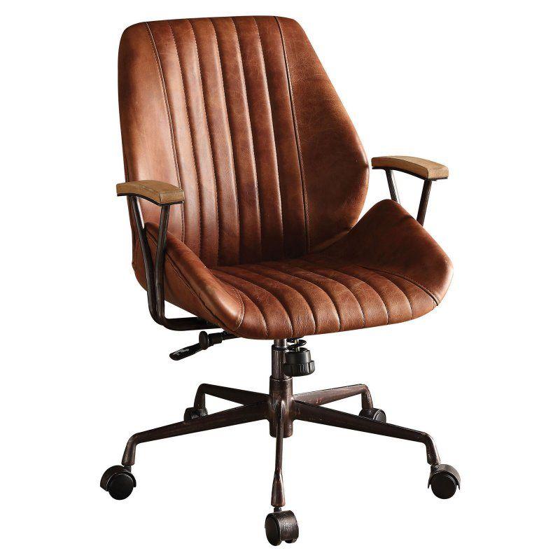 Acme Furniture Hamilton Top Grain Leather Office Task Chair Leather Office Chair Modern Office Chair Office Chair