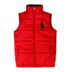 Polo Ralph Lauren Mens Ascender Down Vest Red