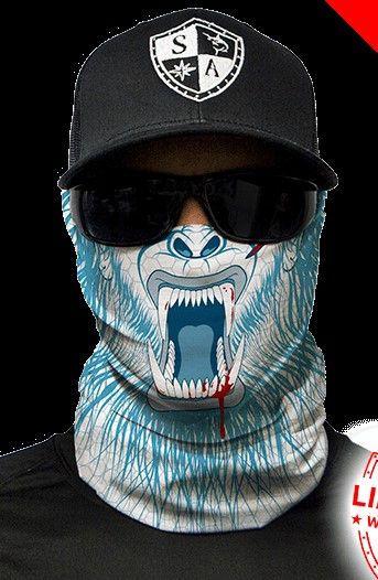 Abominable Multi Purpose Face Shield Balaclava Bandana Neck Gaiter Sun Mask Neckerchief by VaderUnlimited on Etsy