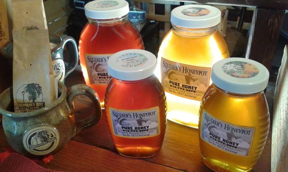 Get your pure #honey! Studier's Honeypot has been buzzing around since the 1940's - amazing honey for all your baking needs, snacks AND #COFFEE Get yours at our Savannah location 502 E River Street, Savannah - Savannah's Best Gourmet Treasures! http://www.savannahsbestgourmet.com/