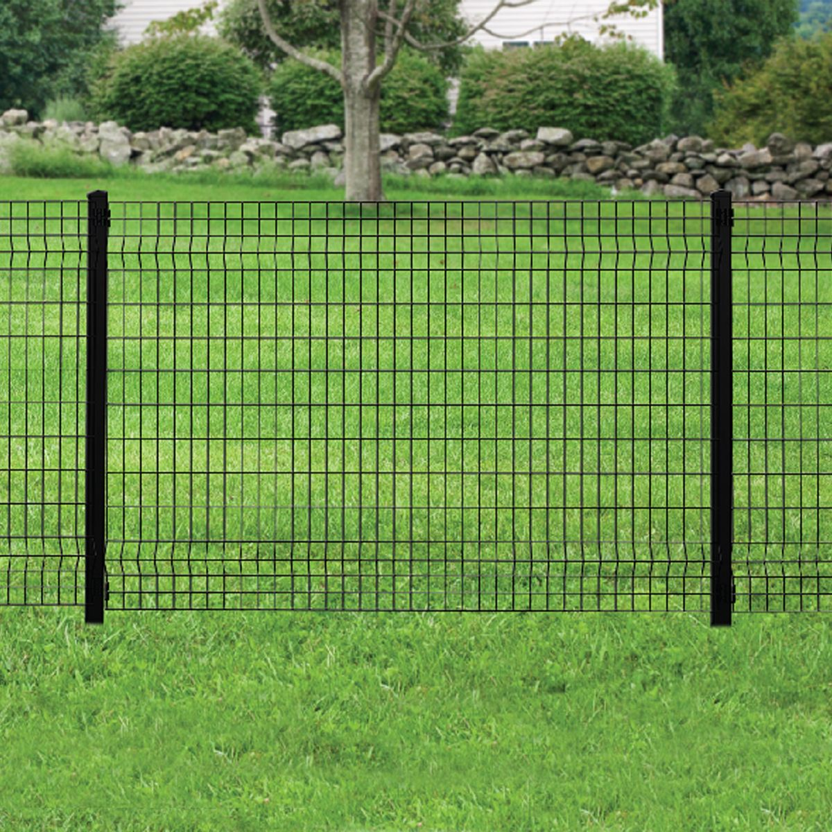Deco Grid Black Steel Fence Panel Dog Fence Diy Dog Fence Fences Alternative