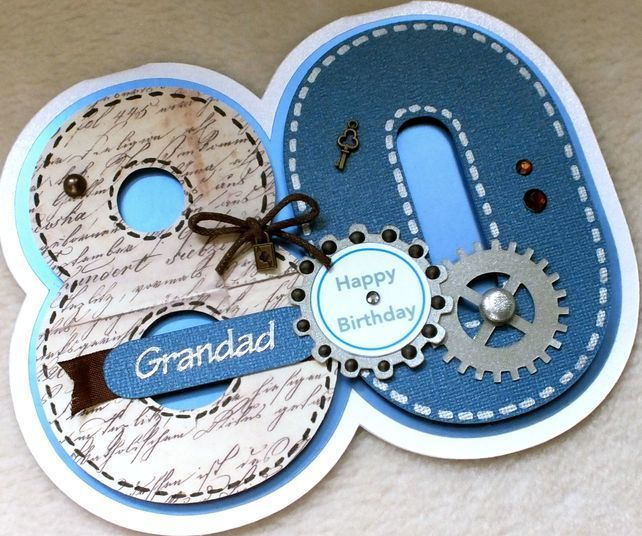 Special Handmade Grandad 80th Birthday Card 500 – 80 Birthday Card