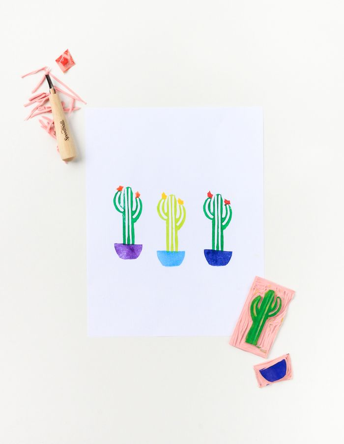 DIY Layered Cactus Stamp