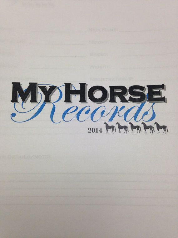 Horse Records on Etsy, $8.00 CAD