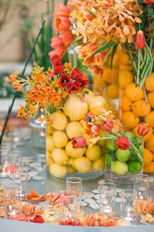 9 Centros De Mesa Para Bodas Con Frutas Centros De Mesa - Centros-de-mesa-de-frutas