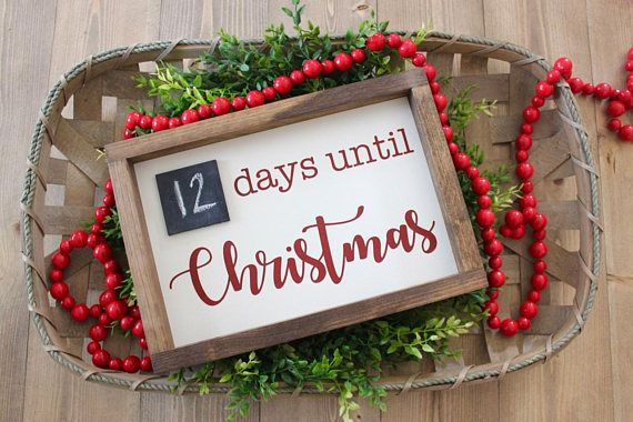 Christmas Countdown Sign Days Until Christmas Christmas Decor