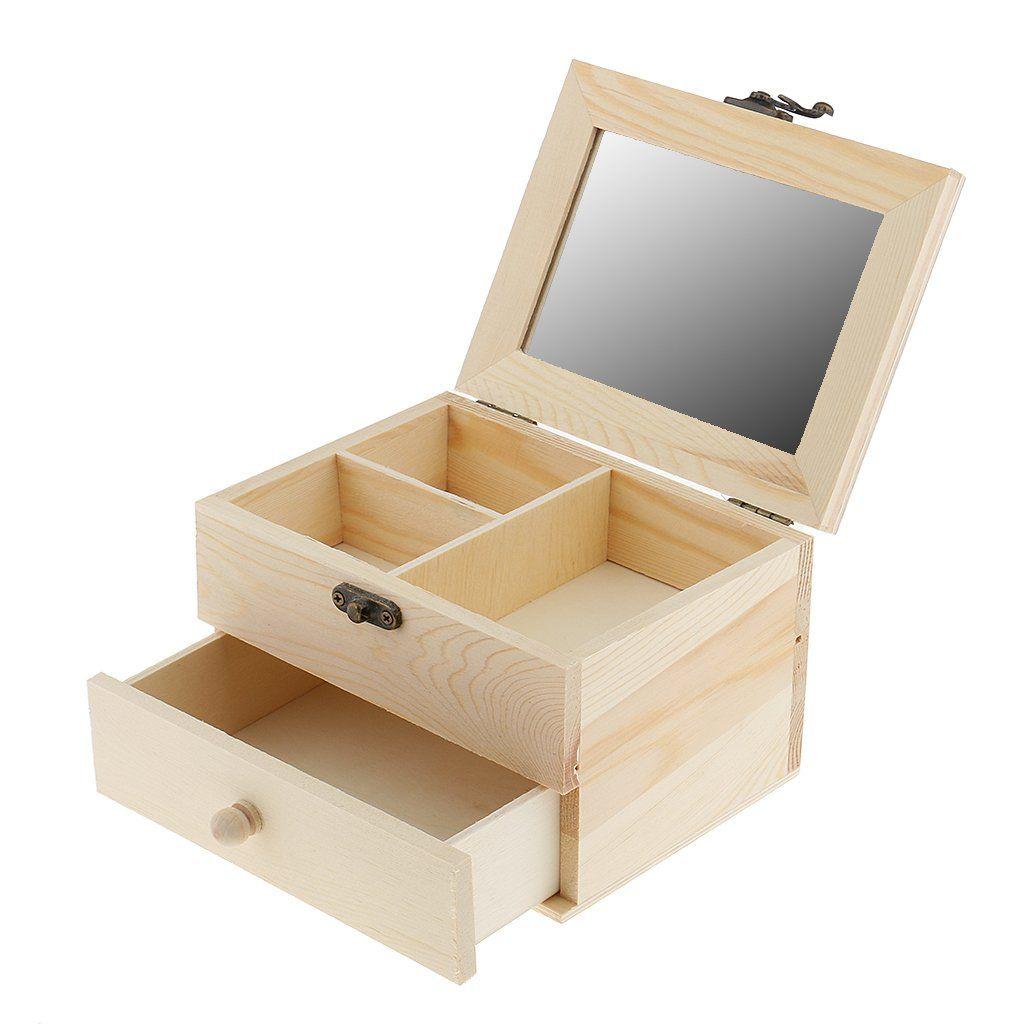 33++ Unfinished wood jewelry box with drawers ideas