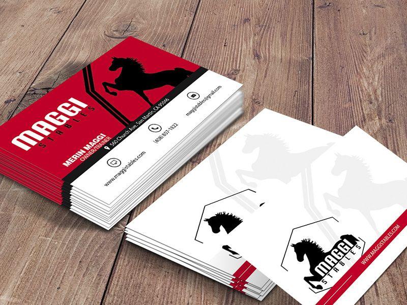 LOGO DESIGN IDEAS Maggi Stables Business Card Fresh, bold and custom ...