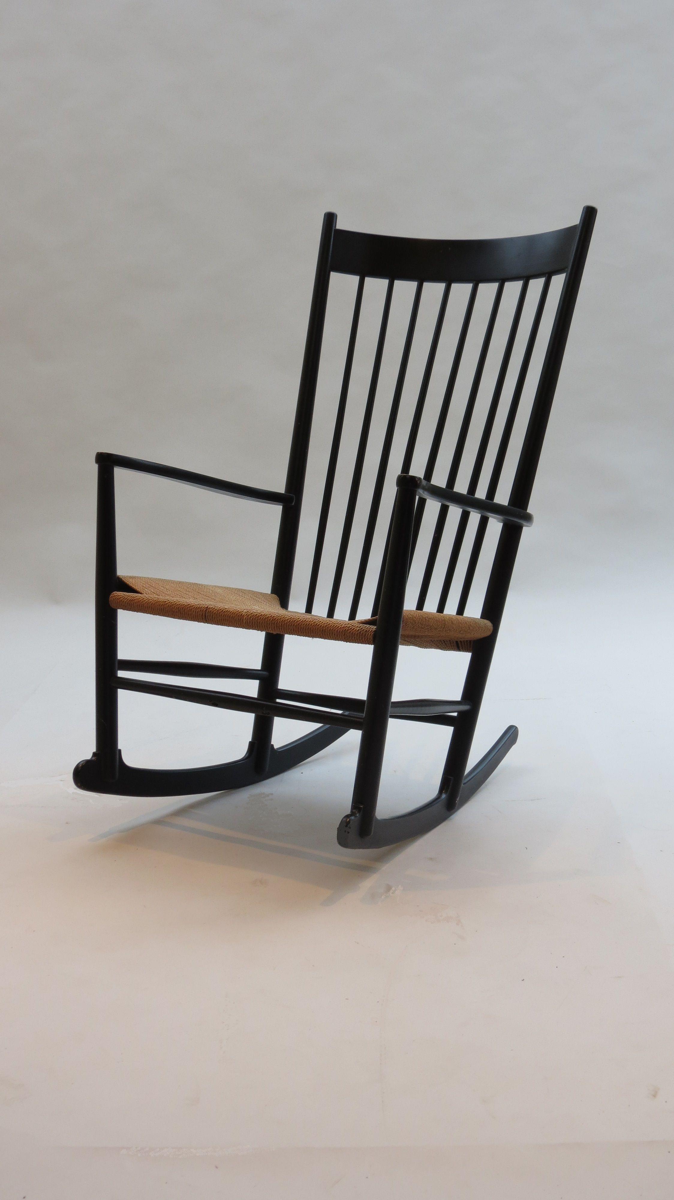 Vintage Hans J Wegner Rocking Chair J16 Danish