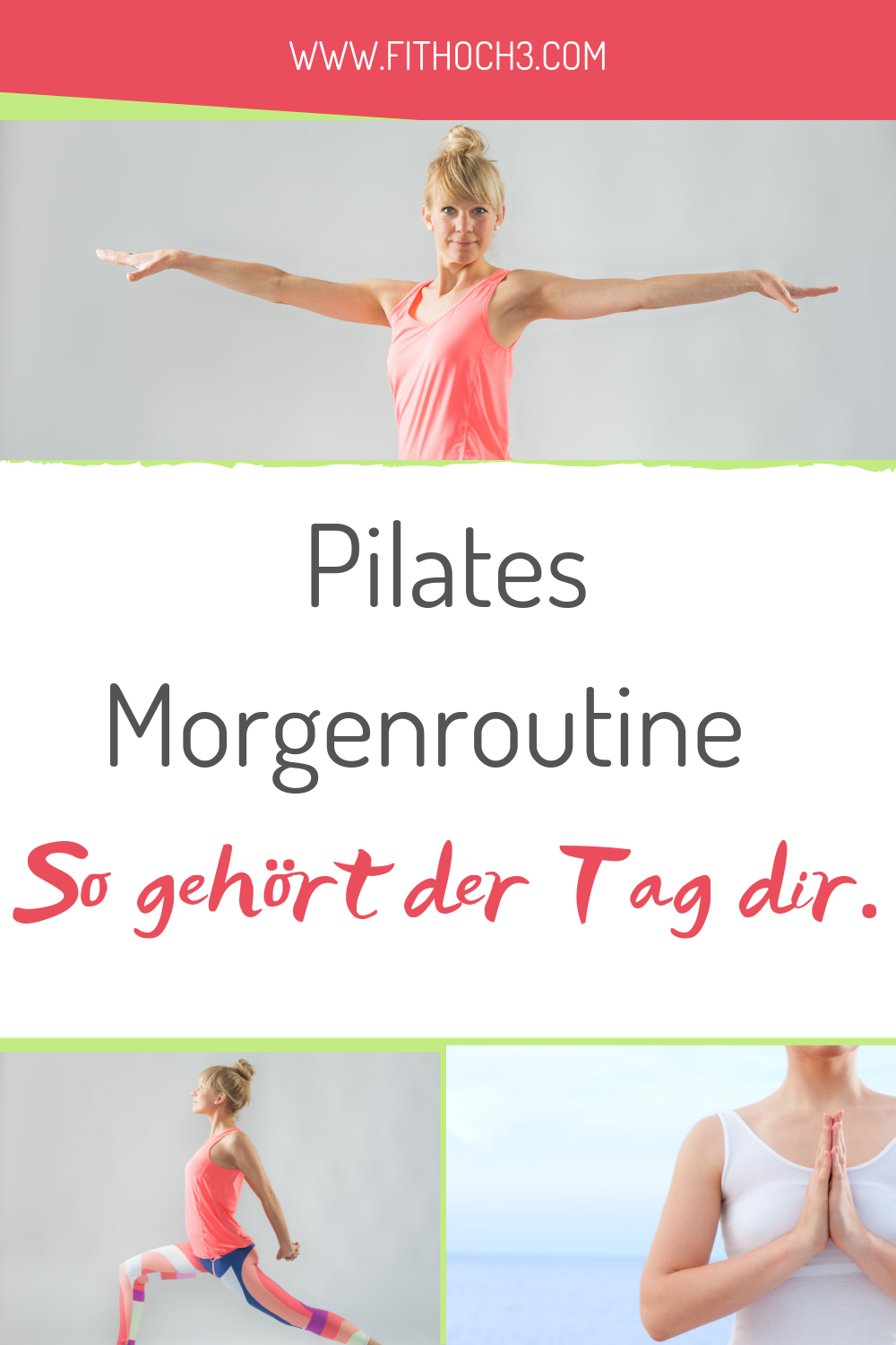 13 min Pilates morning routine for back and legs - start the day fit! -  Get up and take off? With m...