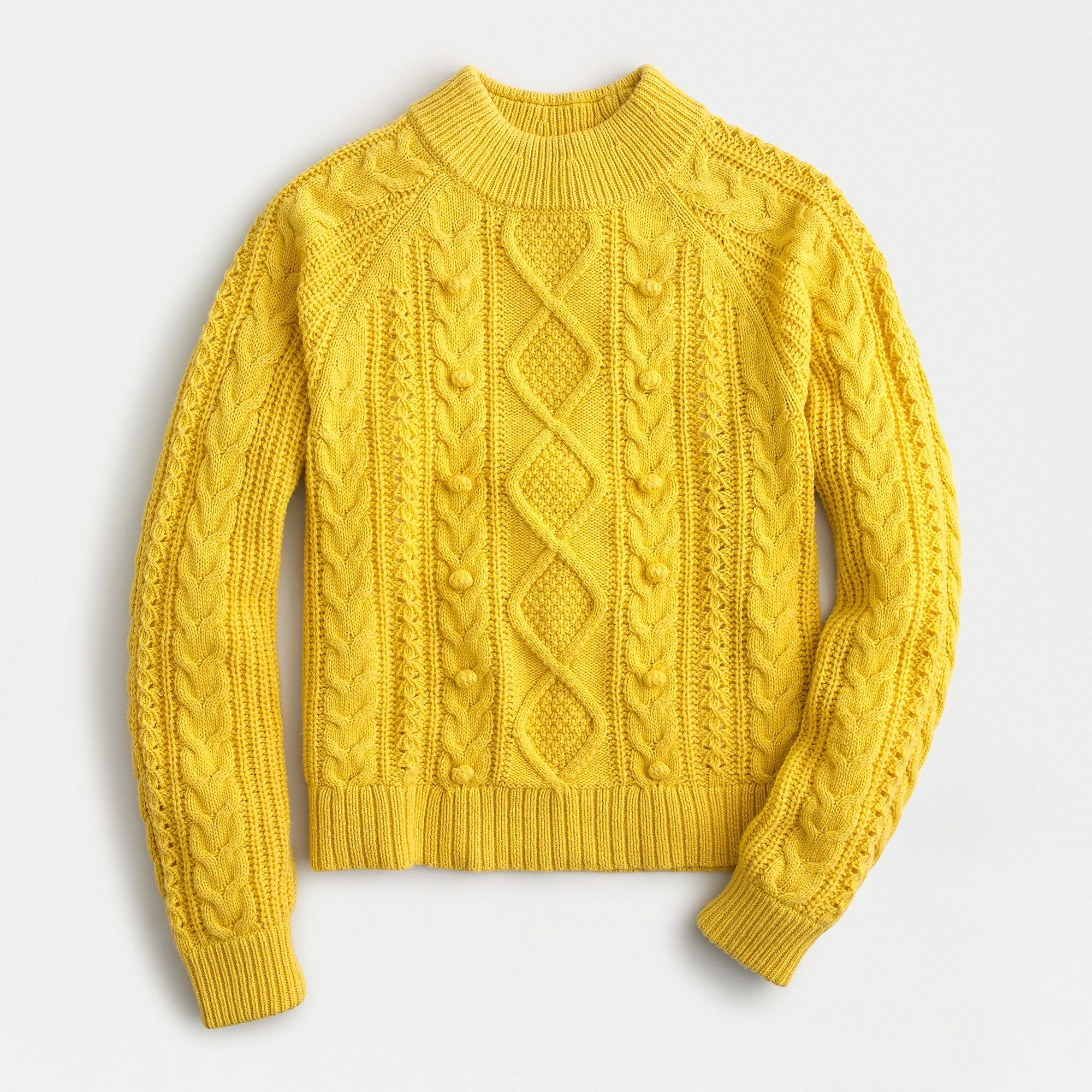 Shop J Crew For The Pom Pom Cable Knit Sweater For Women Find The Best Selection Of Women Clothing Available I Cable Knit Sweaters Knitted Sweaters Cable Knit