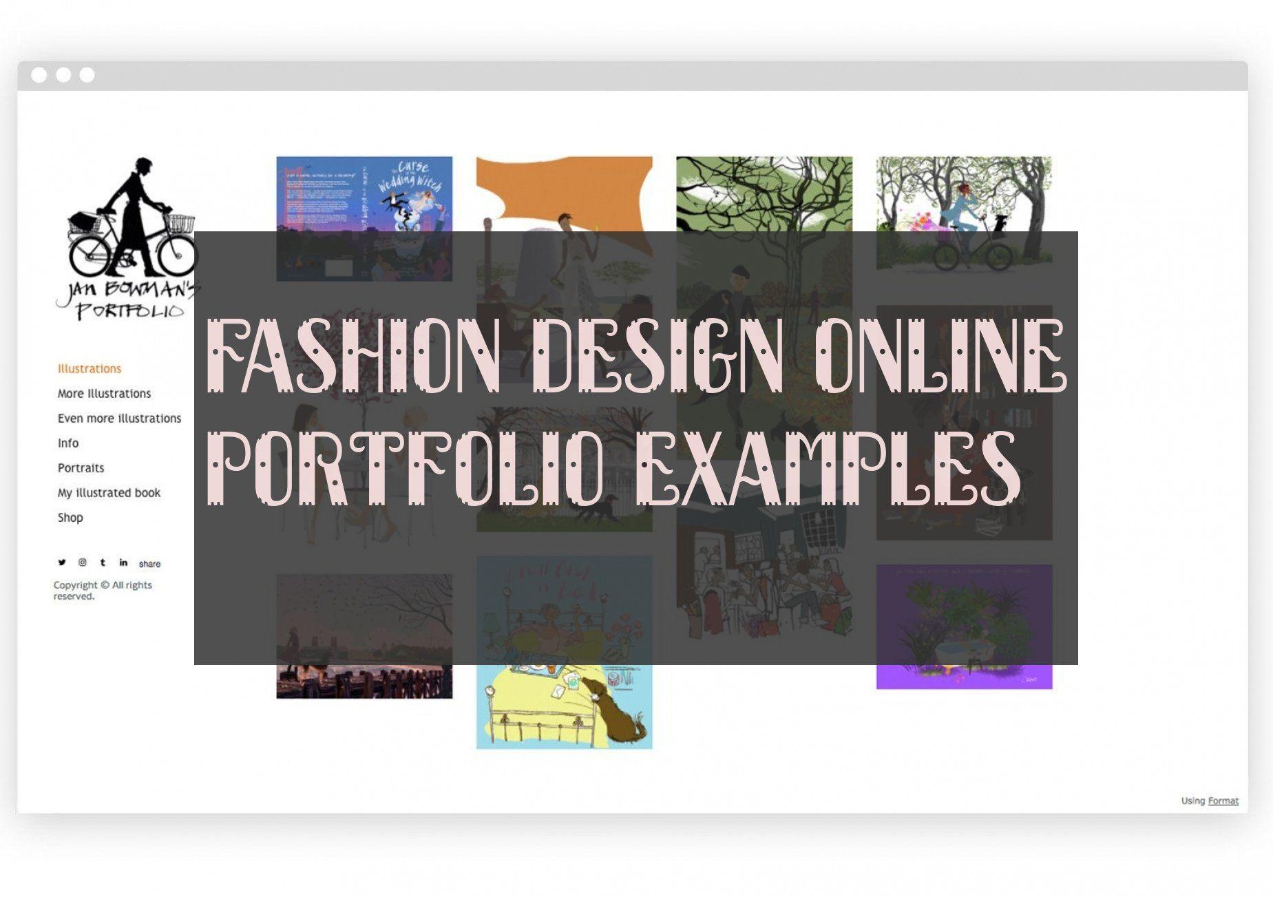 Fashion Design Online Portfolio Examples #onlineportfolio