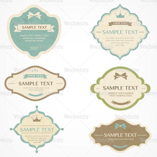 Vintage label vectors DIY \ Printables Pinterest Vintage - best of luxury invitation vector
