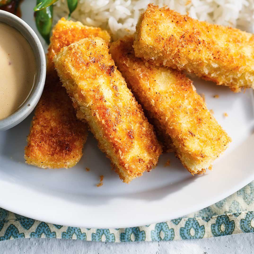 Tofu croustillant et haricots verts