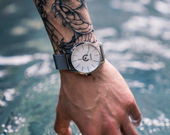 Minimalist Men's Watch Caesar's Silver | Wrist Wat