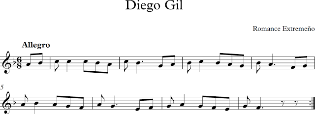 Diego Gil. Romance Extremeño