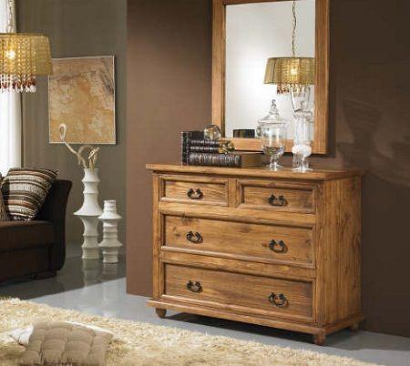 C modas de madera r sticas y perfectas para tu habitaci n - Comodas para habitacion ...
