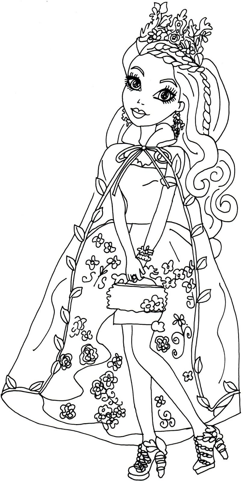 Ashlynn Ella Legacy Day Ever After High Coloring Page Coloring
