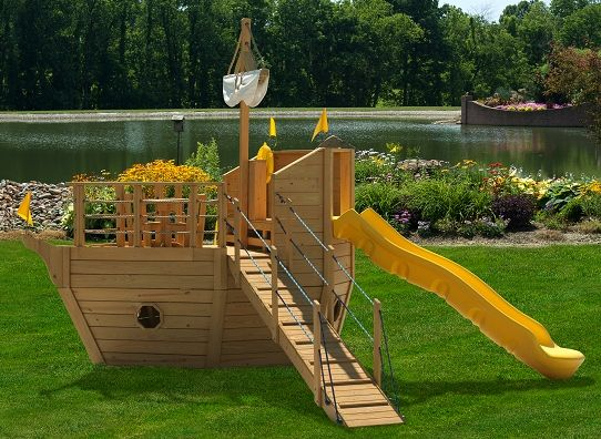 Baby Yacht Series | Backyard Boat Playhouse For Kids | Quality Outdoor Swing  Sets