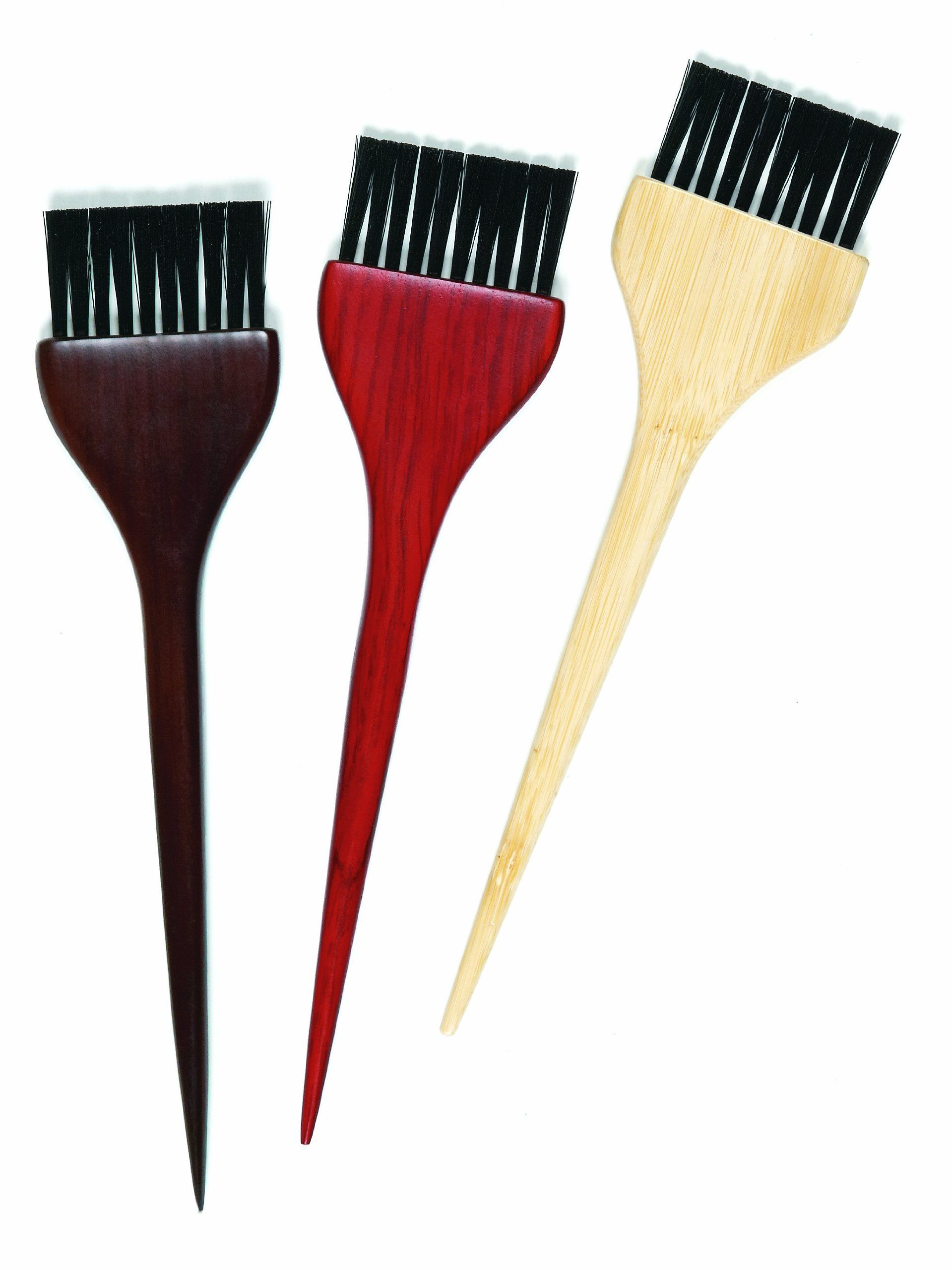Colortrak Wooden Color Brushes 3 Count 10 Packs Brush Red To Blonde Wooden