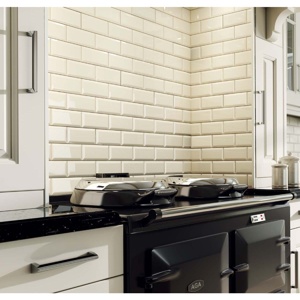 Metro Cream Wall Tiles - 200mm x 100mm Kitchen | kombuis muur teels ...