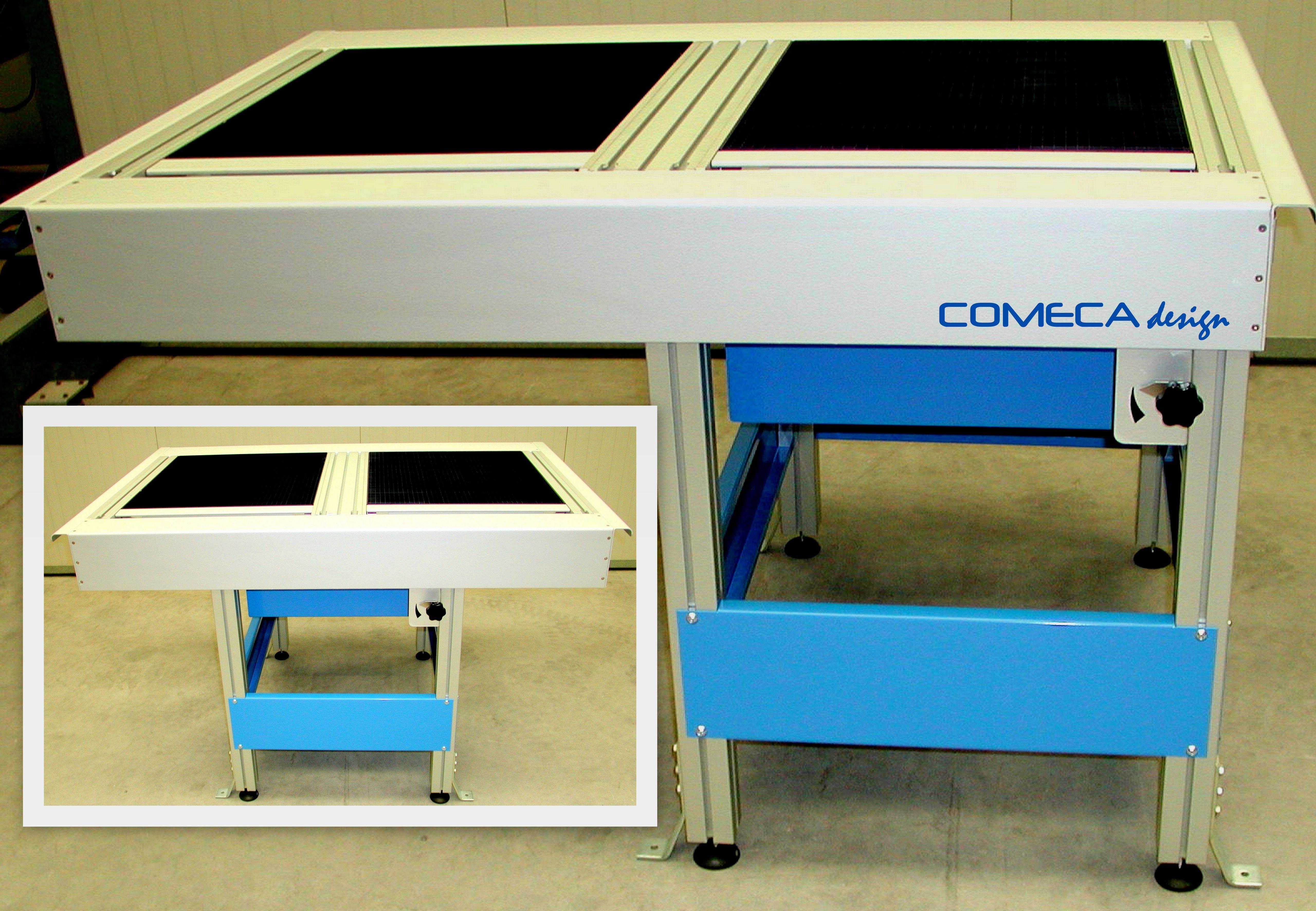 Banco Da Lavoro Per Alluminio : Banco da lavoro con griglia per lavorazione tessuto.costruito con