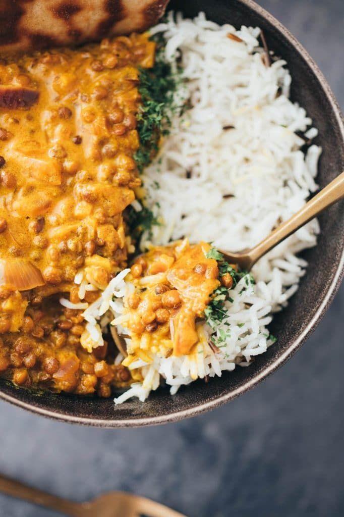 einfaches Linsen Dal (30 Minuten) vegan - Vegane Vibes