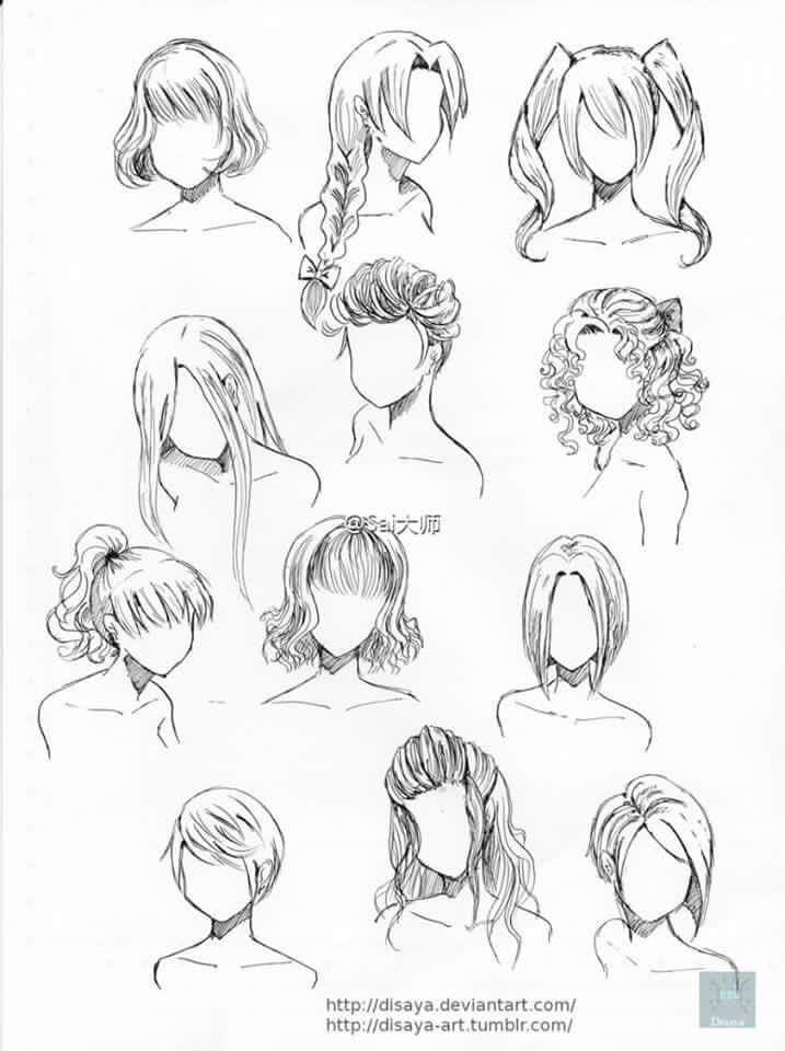 Pin By Def On Hair Drawing How To Draw Hair Drawings Art Reference