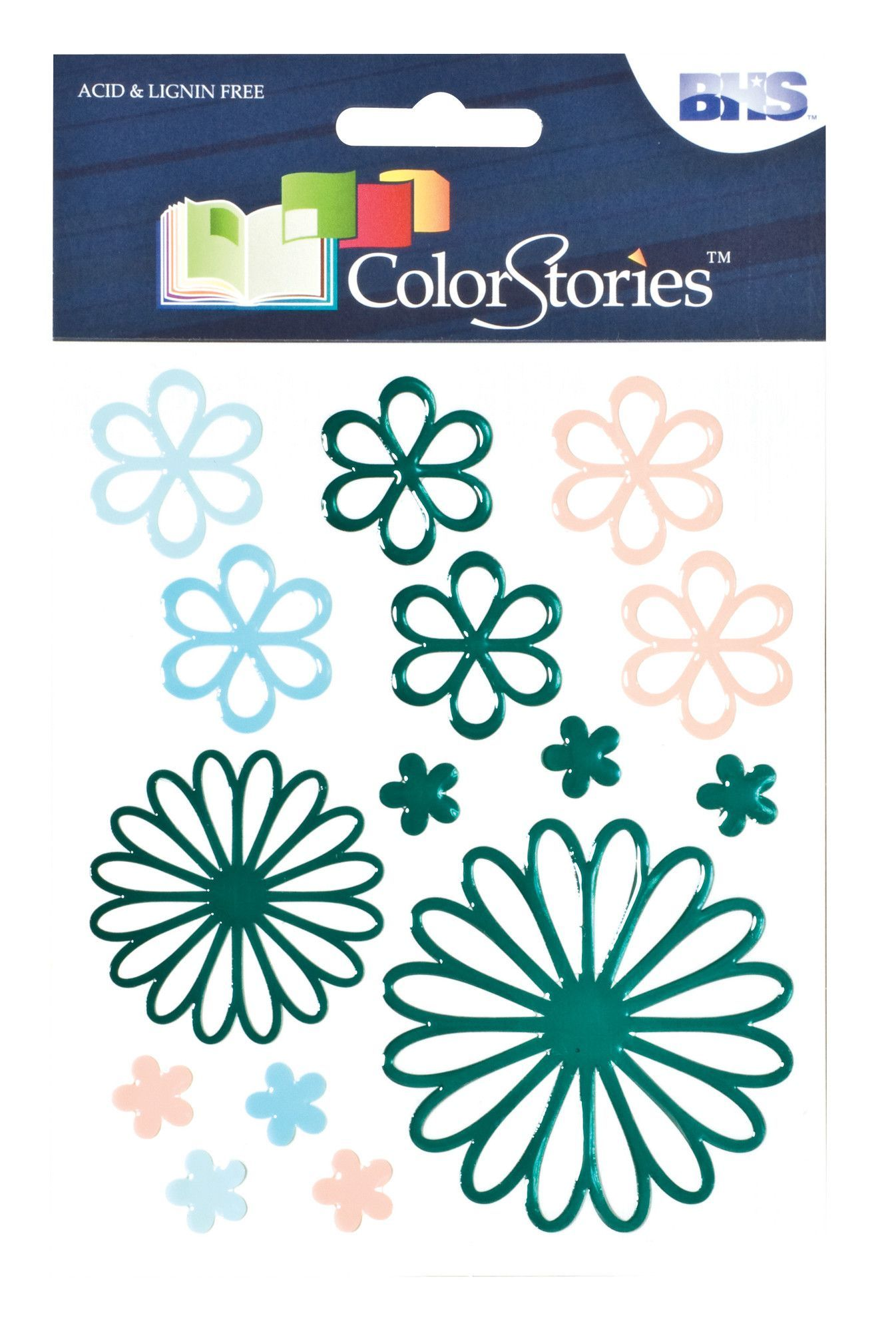 Colorstories Embossed Daisy Stickers (Set of 3)