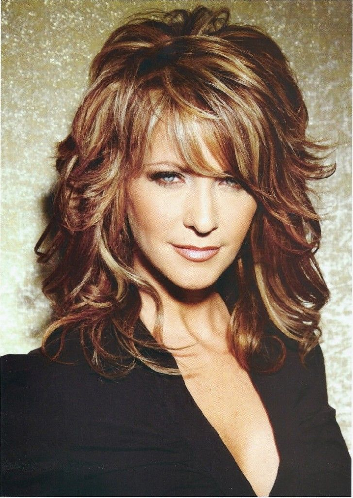 Brown layered hair with blonde highlights. on The Fashion Time ...