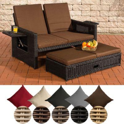 Poly-Rattan 2er Lounge-Sofa ANCONA, Geflecht RUND, ALU-Gestell, ausziehbare Fußbank, flexibel verstellbar Jetzt bestellen unter: https://moebel.ladendirekt.de/garten/gartenmoebel/loungemoebel-garten/?uid=859e89d9-75e2-5f59-ab03-eaa4ac68cc52&utm_source=pinterest&utm_medium=pin&utm_campaign=boards #loungemoebelgarten #garten #gartenmoebel