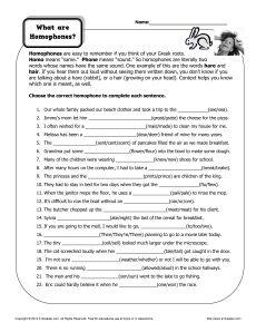 homonyms worksheets for third grade sound alikes homophone worksheets for kids jumpstart1000. Black Bedroom Furniture Sets. Home Design Ideas