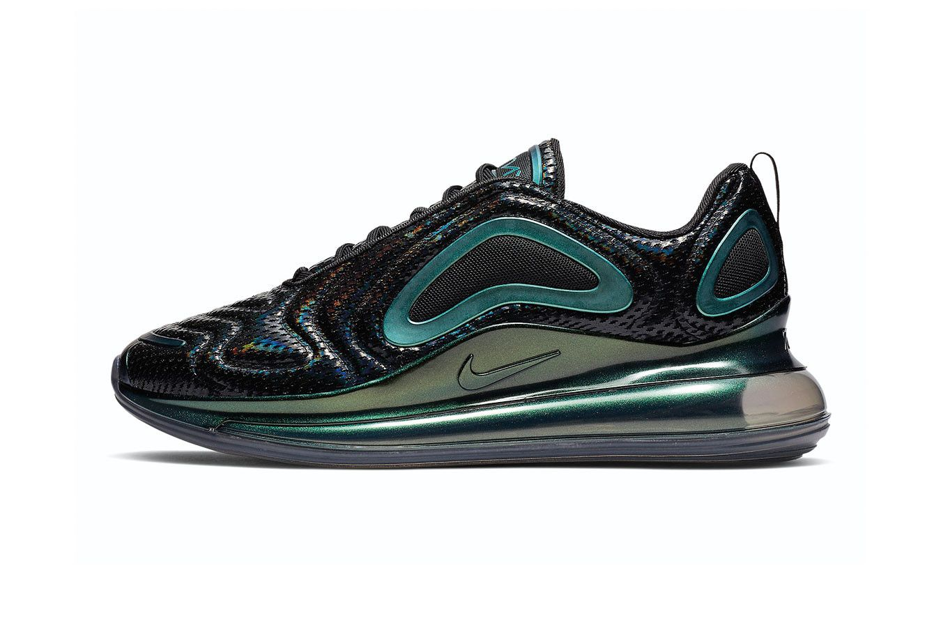 e058b8fb70 Nike Air Max 720 Iridescent Mesh Release Info Date sneaker black purple teal