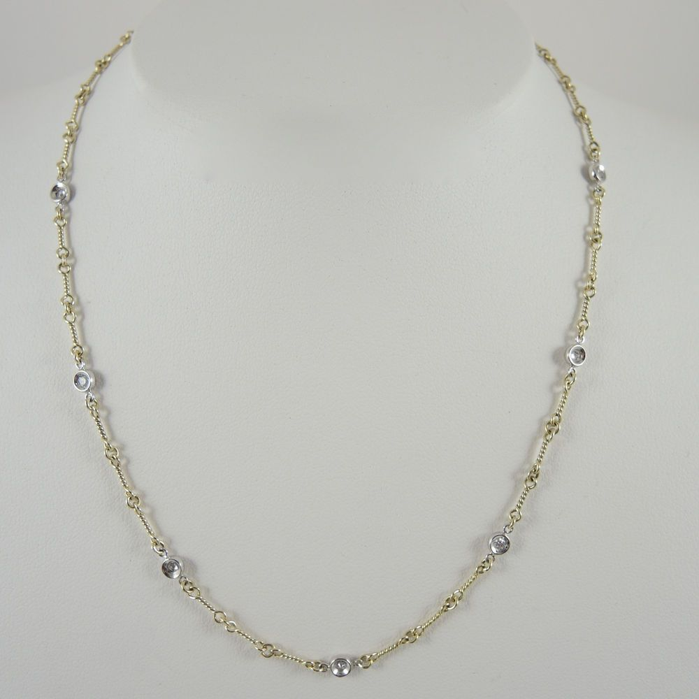 Roberto Coin 18k Gold Diamond Bar Necklace OLH2N