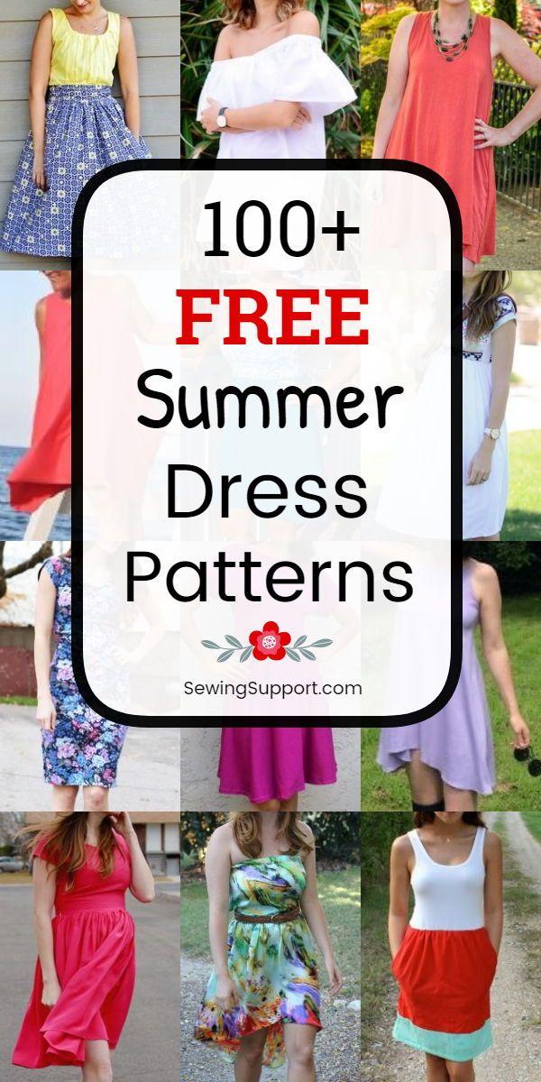 100+ Free Summer Dress Patterns for Women #summerdresses
