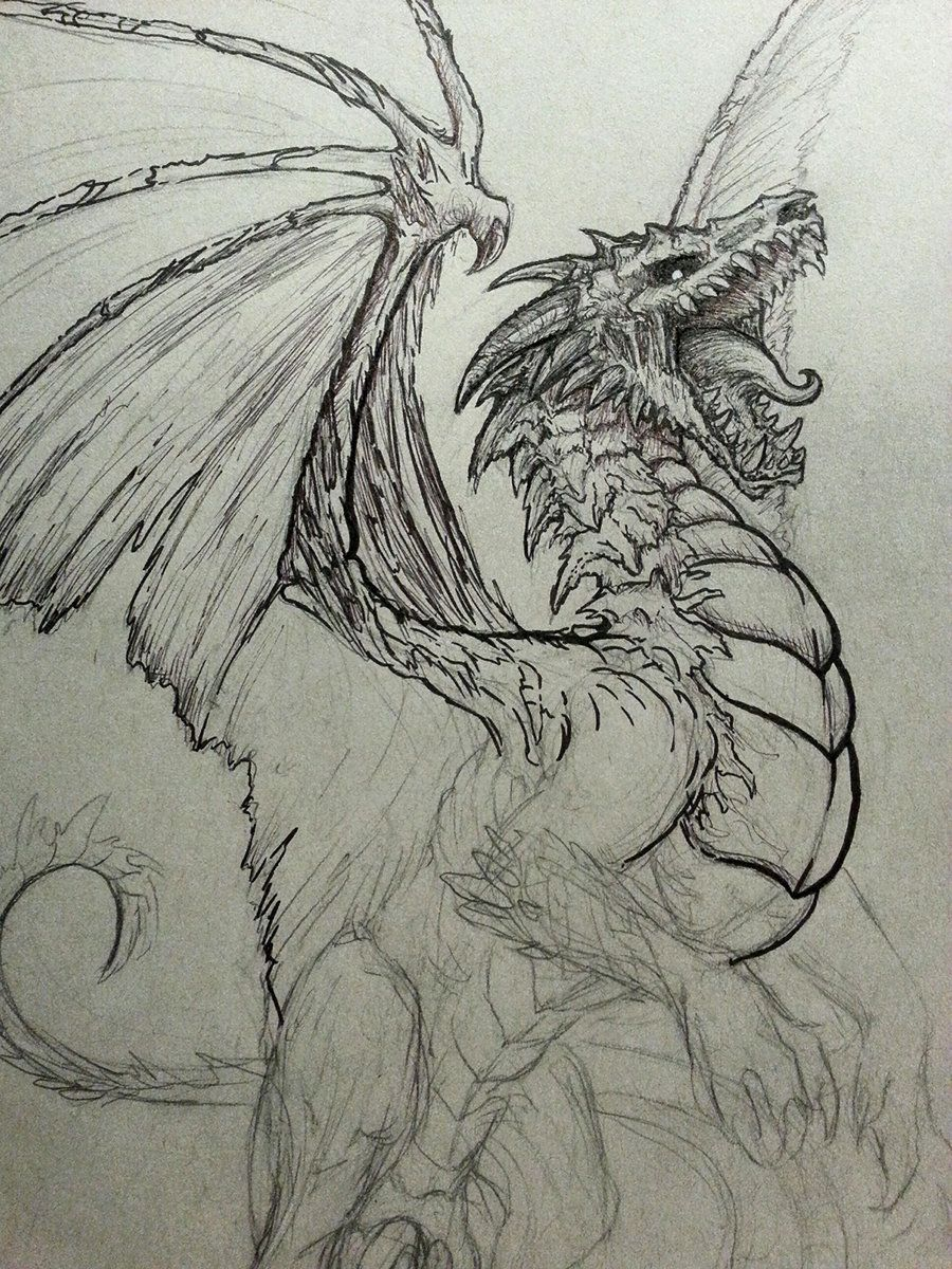 Undead Dragon Sketch By CrystalSully On DeviantArt | Dragons In 2018 | Pinterest | Dragon Sketch ...