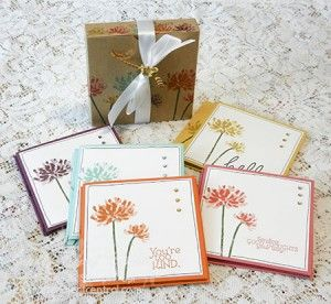 Too kind greeting card set craftprojectcentral create a too kind greeting card set craftprojectcentral create a boxed set of greeting cards that feature stampin ups too kind stamp set m4hsunfo