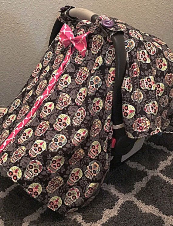 Sugar Skull Carseat Canopy Baby Car Seat Cover Infant