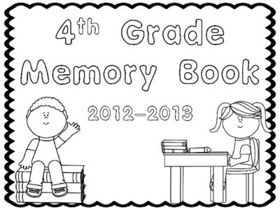 End+of+the+Year+Memory+Book+4th+Grade+from+Family+of+First