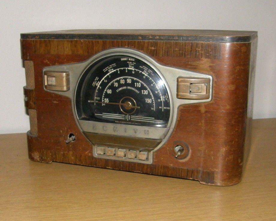 Antique Zenith 6 S 532 Tube Radio Wood Case Cabinet Restoration Parts Ebay Antique Radio Old Radios Vintage Electronics